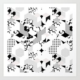 In between the lines and dots Art Print
