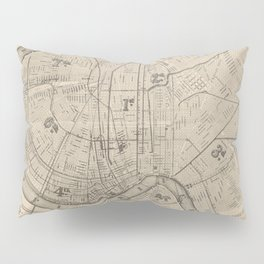 Vintage Map of New Orleans Louisiana (1885) Pillow Sham