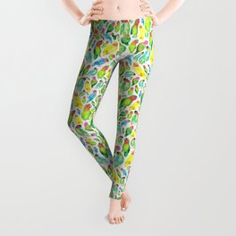 Love Birds Pattern Leggings
