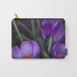Purple crocuses Carry-All Pouch