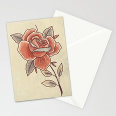 Rose on a Stem Stationery Cards