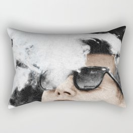 JFK Cigar and Sunglasses Cool President Photo Photo paper poster Color Rectangular Pillow