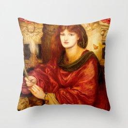 "Dante Gabriel Rossetti ""Sibylla Palmifera"" Throw Pillow"