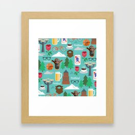 PDX patten Framed Art Print
