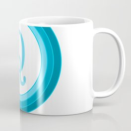 Blue letter Q Coffee Mug