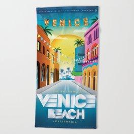 Venice Beach Boardwalk California Beach Towel