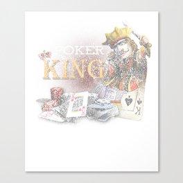 Poker King Distressed Casino Gambling Canvas Print