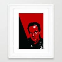 quentin tarantino Framed Art Prints featuring Tarantino by denrees