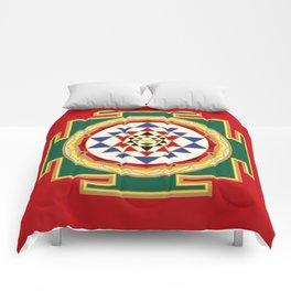 Sri Yantra colored Comforters