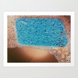 blue sponge Art Print