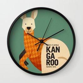 Hello Kangaroo Wall Clock