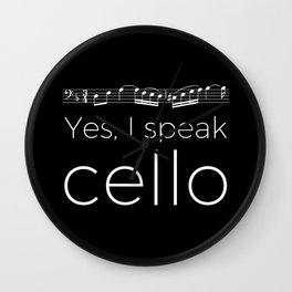 Yes, I speak cello Wall Clock