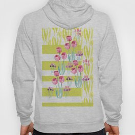 Tulips with yellow stripes Hoody