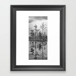 Adams Mill Pond Panorama 06 B&W Framed Art Print