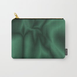Green silk Carry-All Pouch