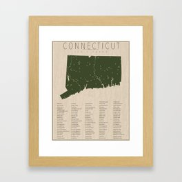 Connecticut Parks Framed Art Print