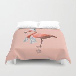 Squeaky Clean Flamingo Duvet Cover