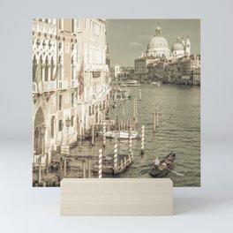 VENICE Canal Grande & Santa Maria della Salute | urban vintage style Mini Art Print