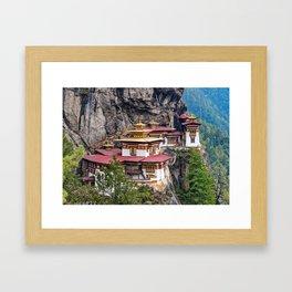 Bhutan: The Tiger's Nest Monastery Framed Art Print