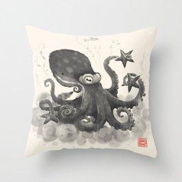 Ninja of the Sea Throw Pillow