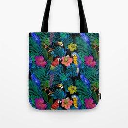 Tropical Birds and Botanicals Tote Bag
