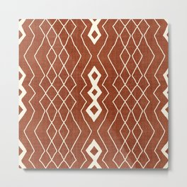 Tangier in Rust Metal Print