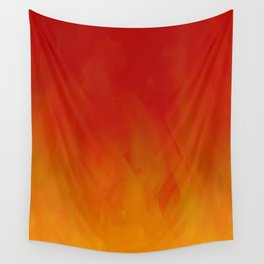 Flames of Gold Wall Tapestry