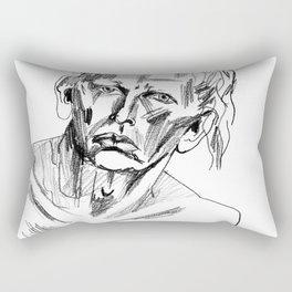 Australian Dancer's Portrait Rectangular Pillow