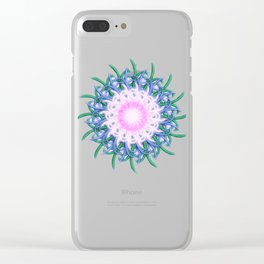 Mandala #108, Harmony in Pink Clear iPhone Case