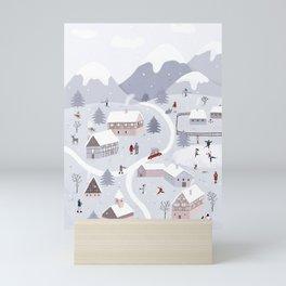 Winter wonderland Mini Art Print