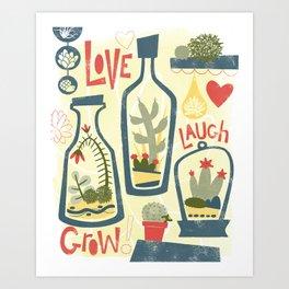 Love Laugh Grow Art Print