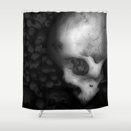 Kostnice Beinhaus Skull II Shower Curtain