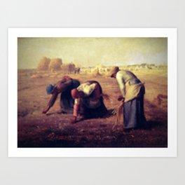 Pixel Jean François Millet Art Print