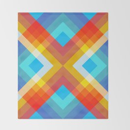 Abstract Retro Pattern 10 Throw Blanket
