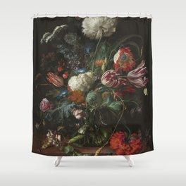 Jan Davidsz de Heem - Vase of Flowers (c.1660) Shower Curtain