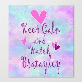 Bratayley Keep Calm Canvas Print