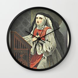 The Christian Graces in Olden Times Wall Clock