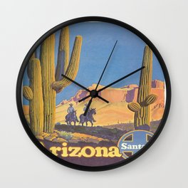 Vintage poster - Arizona Wall Clock