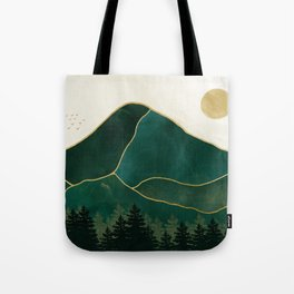 Mount Hood // Emerald Abstract Dream Oregon Green Gold Yellow Mountain Forest Wilderness Landscape Tote Bag