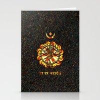 shiva Stationery Cards featuring Shiva  by Khana's Web