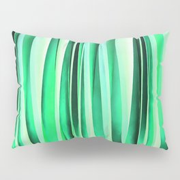 Turquoise Serenity Stripy Pattern Pillow Sham