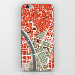 Seville city map classic iPhone Skin