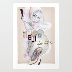 Hello, beautiful! Art Print