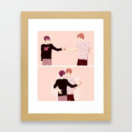 dancing boyfriends Framed Art Print