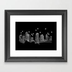 Houston, Texas City Skyline Framed Art Print