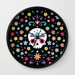 Cute day of the dead Wall Clock