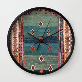 Sivas Antique Turkish Niche Kilim Print Wall Clock