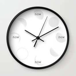 It's Now O'Clock Wall Clock