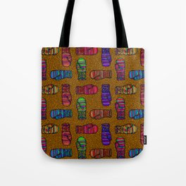 COLORFUL MITTENS ON MUSTARD YELLOW Tote Bag