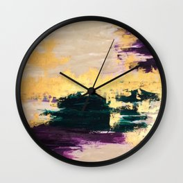 Sassenach Purple and Gold Wall Clock
